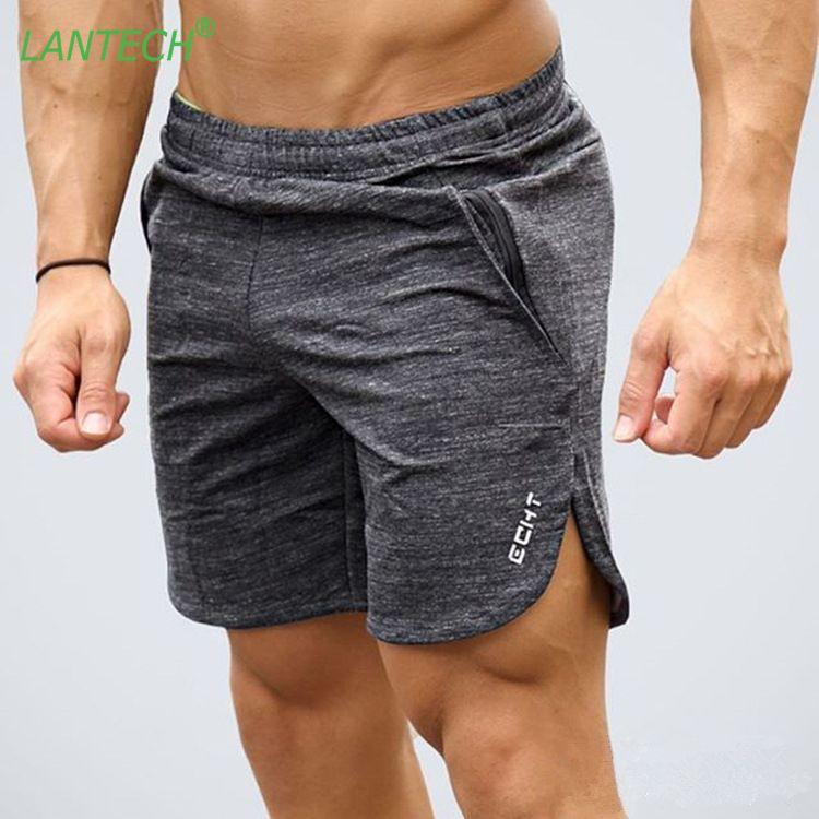 Compre LANTECH Hombres Pantalones Jogging Running Entrenamiento Deportes  Crossfit Sportswear Gimnasio Ejercicio Gym Marca Shorts Clothes Pocket  Zipper A ... 1a6d7fcecaa