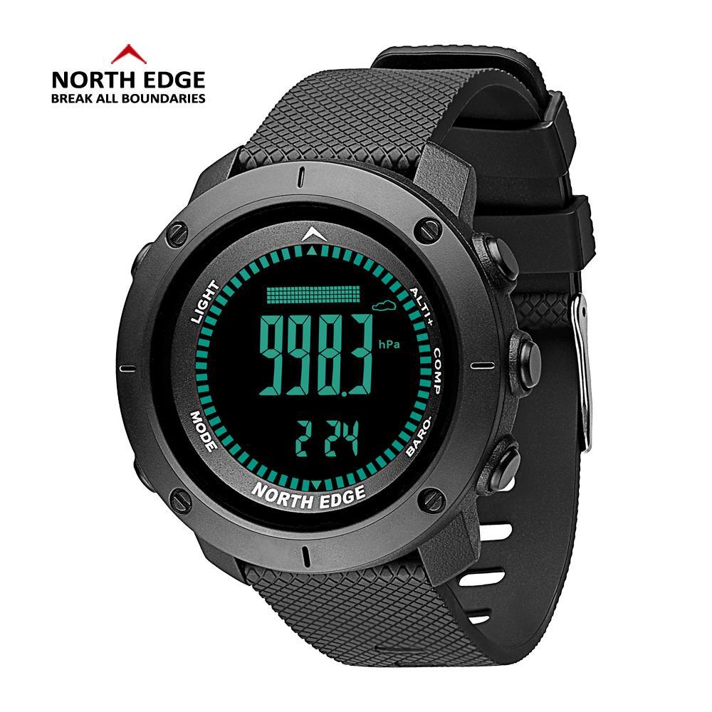 Compre Hombres Relojes Deporte North Edge Presure Medición Barómetro  Altímetro Reloj Hombres Brújula Impermeable Deporte Relojes Digitales A   63.14 Del ... 3c7a4a1fb578