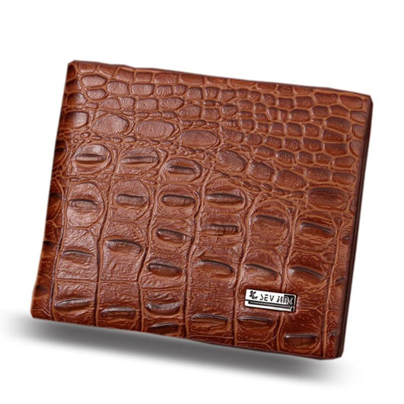 2d5aac6427ca 2018 Fashion Design PU Leather Alligator Grain Hasp Men Wallets Carteira  Coin Pocket Purse Wallet ZQ20 Men Wallet Wallets Purse Online with   11.73 Piece on ...