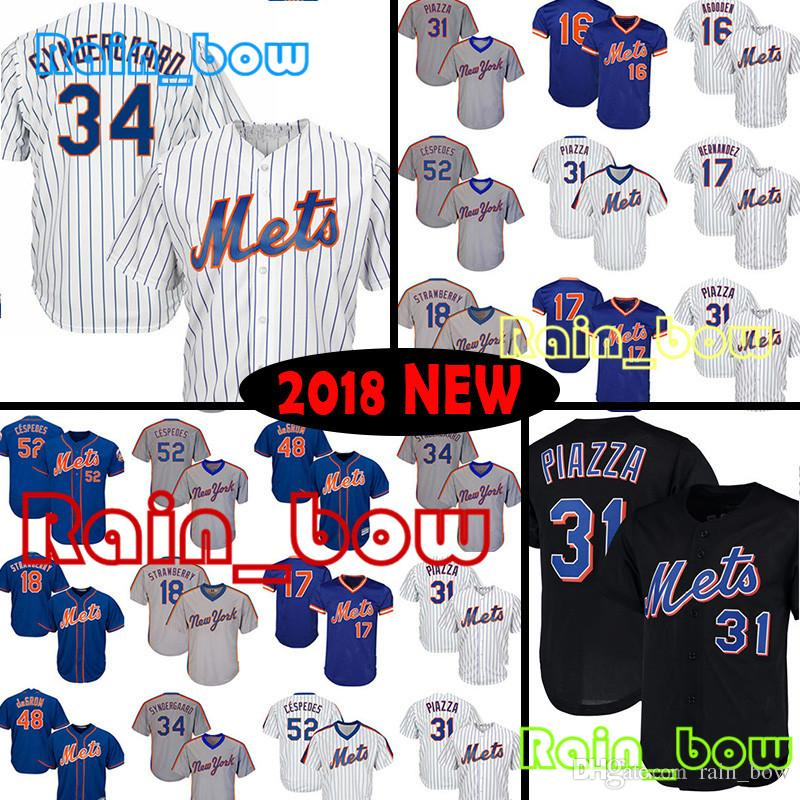 3dc41ab24 Mens Baseball Jerseys New York Mets Jersey 31 Mike Piazza Jersey 17 Keith  Hernandez Jersey 18 Darryl Strawberry Jerseys Cespedes Jerseys Strawberry  Jersey ...