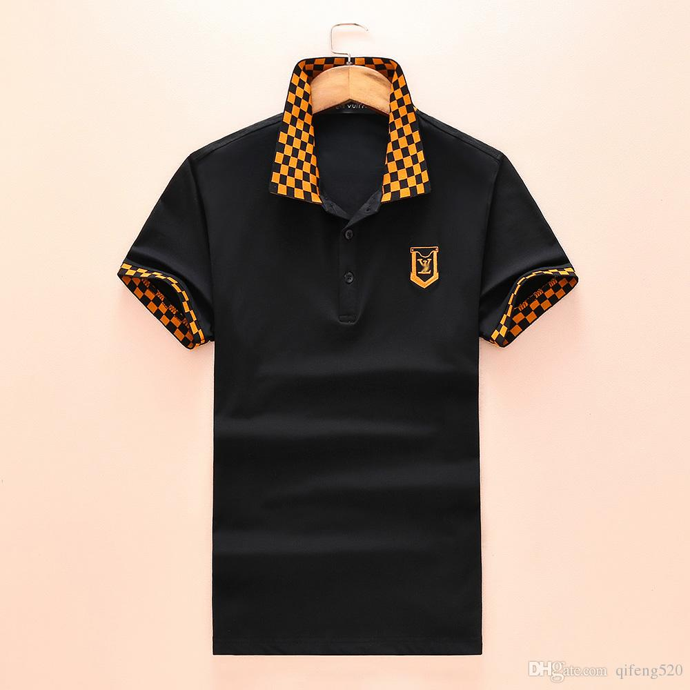 New 3d Luxury Brand Embroidery T Shirts For Men Italy Fashion