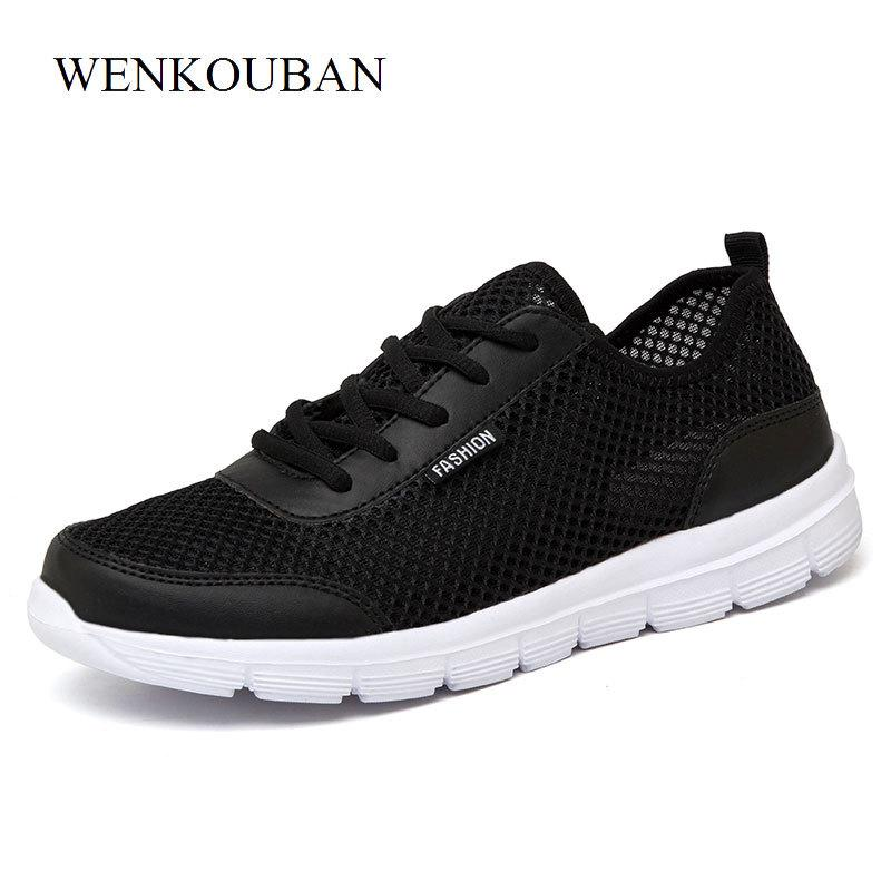 the latest ec8c6 5992c Acheter 2019 Mode Air Mesh Chaussures Femmes Baskets Casual Chaussures  Blanches Formateurs Summer Tenis Feminino Dames Plat Panier Femme Zapatos  Mujer ...