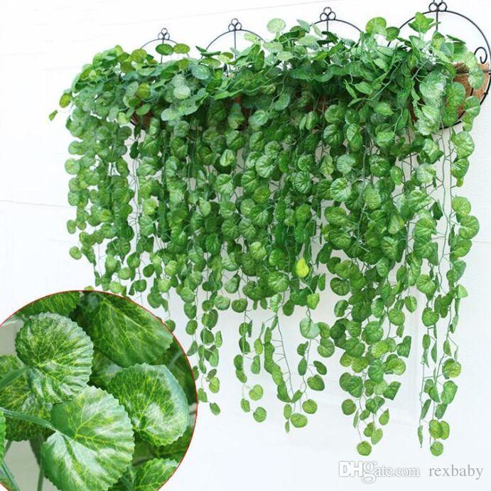 الأخضر الاصطناعي وهمية شنقا نبات الكرمة أوراق الشجر زهرة جارلاند الرئيسية حديقة الجدار شنقا الديكور اللبلاب كرمة الإمدادات
