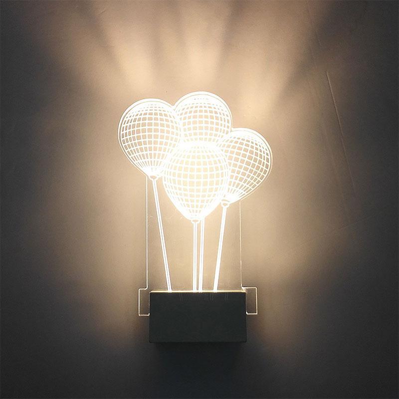 Led Lampes Ballon Acheter Mur Moderne 3d Applique Acrylique Forme wk80OPn