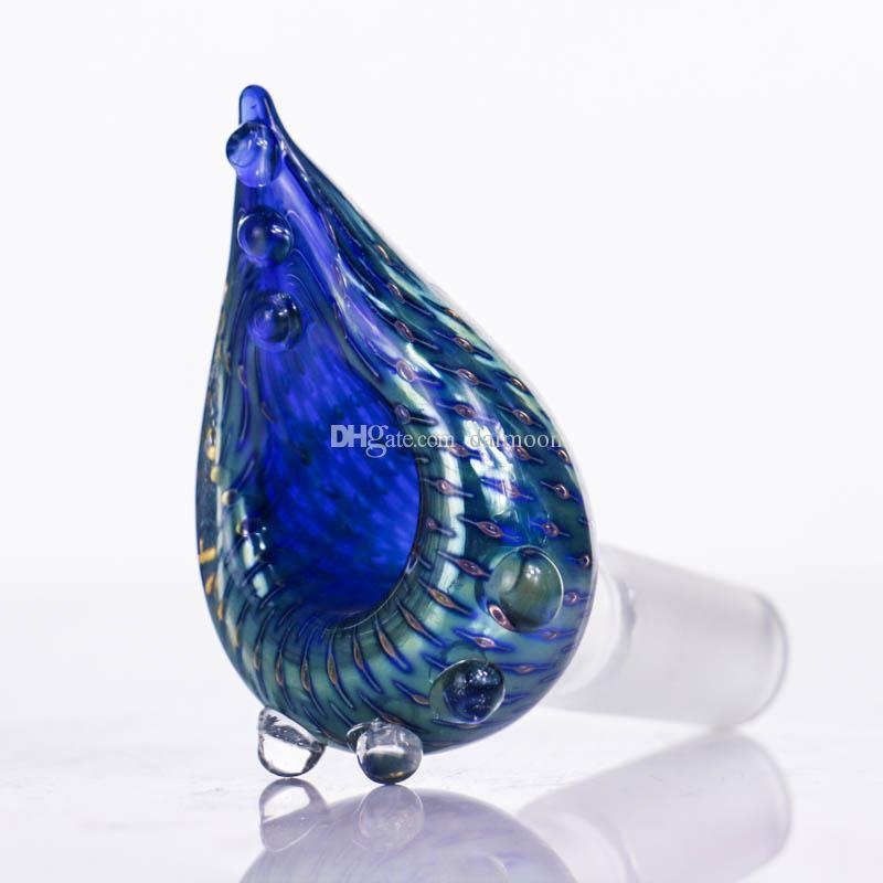mini azul nuevo diseño bong pipa de fumar con el vidrio mini hermoso tubería de agua de la taza de 14 mm con 14 mm bong bong tamaño de la junta