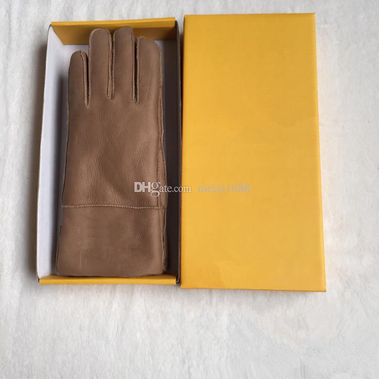 Gants en cuir décontractés de haute qualité pour dames en cuir, gants thermiques Gants en laine pour femmes de différentes couleurs - Livraison gratuite