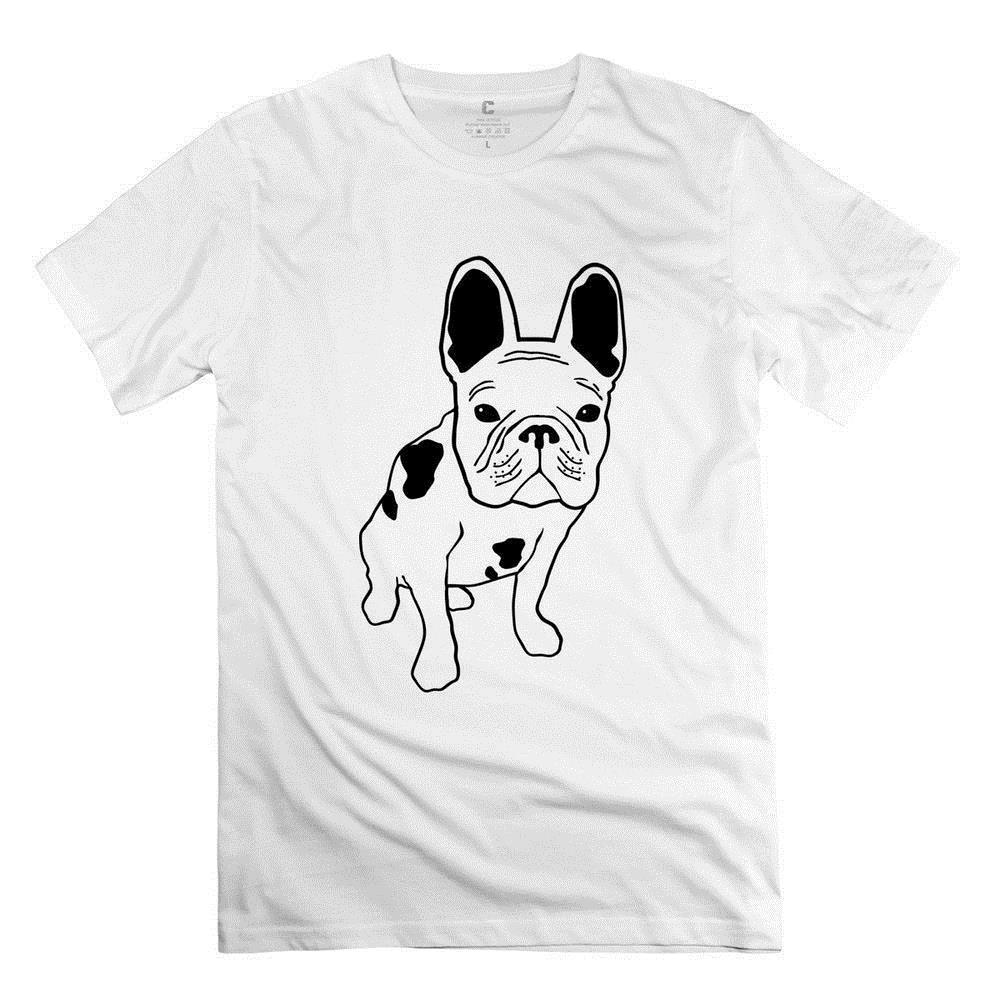 1b79bcb85cb5 Tee Shirt Design Men's Short Graphic Crew Neck 100% Organic Cotton French  Bulldog Tees For Man's Desertsand Size Xs T Shirts
