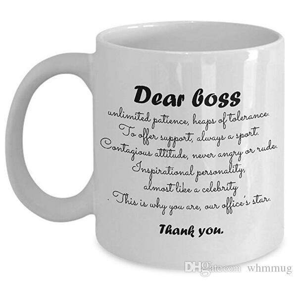 03ca28626aa Dear Boss Thank you - Funny Hilarious Cute Mug - Best Gift for Boss Top  Boss's Day Present Idea for men, women, lady, male or female boss