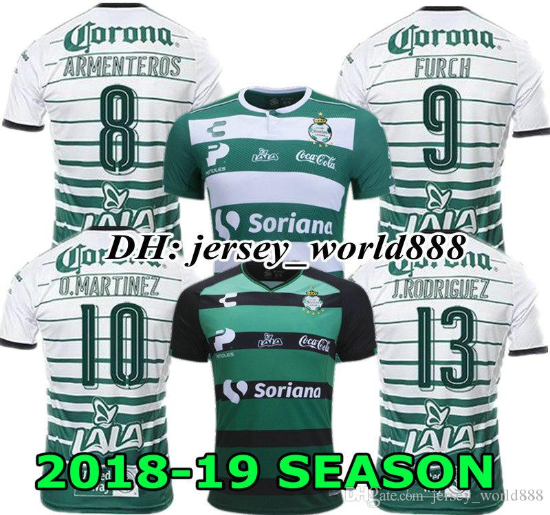 O.MARTINEZ FURCH 18 19 Home Santos Laguna Jersey Soccer ARMENTEROS 2018  2019 Mexico Club SANTOS Away Football Shirt RODRIGUEZ LOZANO LOZANO UK 2019  From ... c66051993
