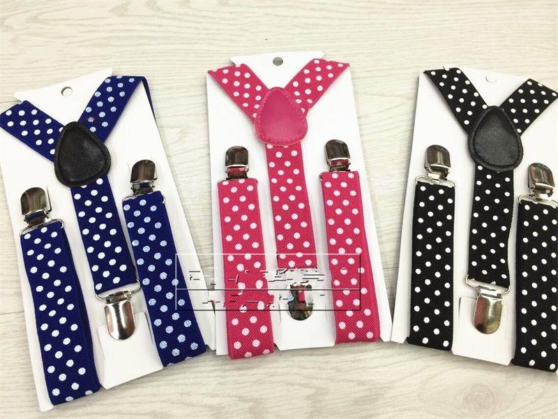 For Boys And Girls Suspenders Printing Cartoon Dot Lattice Braces Y Shape Adjustable Elastic Band Anti Skidding New Pattern 3zy Y