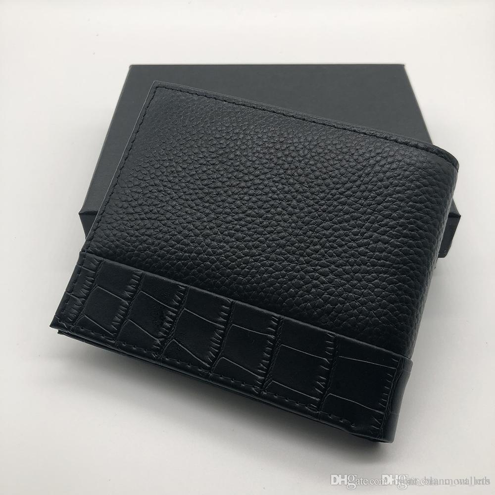 super popolare d43b4 47221 Di lusso popolare in pelle da uomo clip corta portafoglio clip MT  portafoglio MB portafoglio di design porta carte di credito tasca foto M B  scatola ...