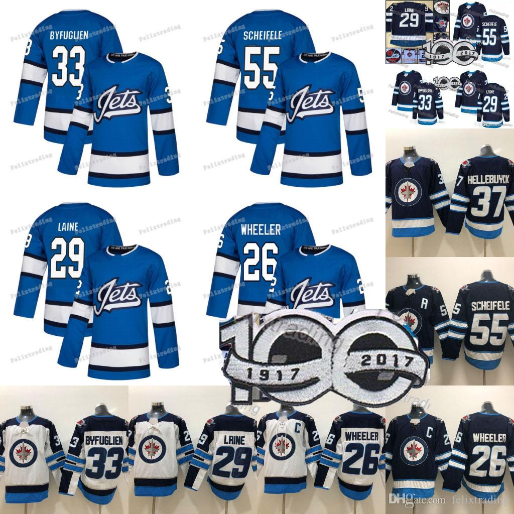 finest selection 631a8 0a021 29 Patrik Laine Jersey Jets Hockey Jerseys 37 Connor Hellebuyck Mark  Scheifele 26 Blake Wheeler Dustin Byfuglien 2019 Winnipeg Jets Jerseys