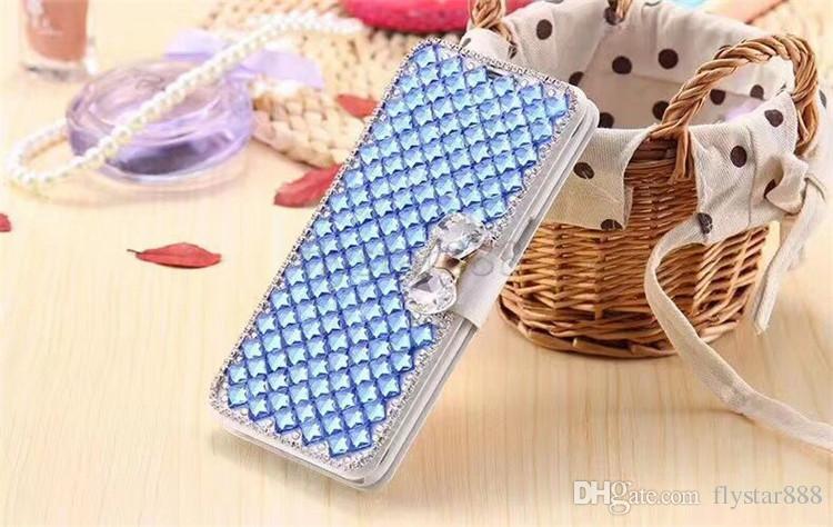 Роскошные Bling горный хрусталь алмаз PU кошелек флип кожаный чехол Case для Samsung S9 Plus S7 Edge iPhone X 8 plus 6 6 S Plus 5s se