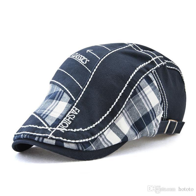 5 Colors Retro Plaid Baseball Caops Snapbacks Casquette Designer Hat Dad Hat Bucket Fitted Hat Brand Hats