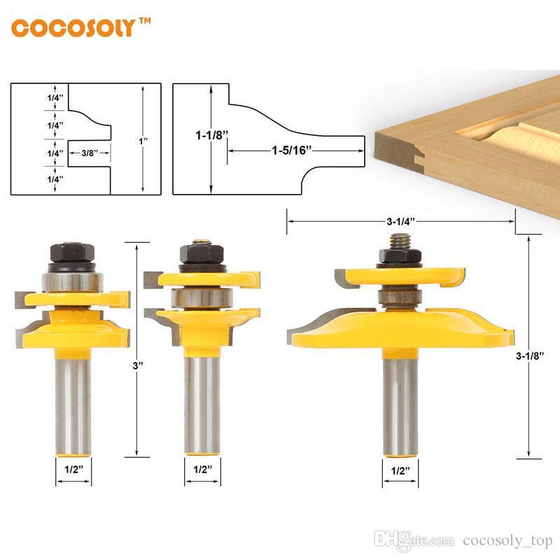 2018 Diy Woodworking Tools 3 Bit Raised Panel Cabinet Door Router