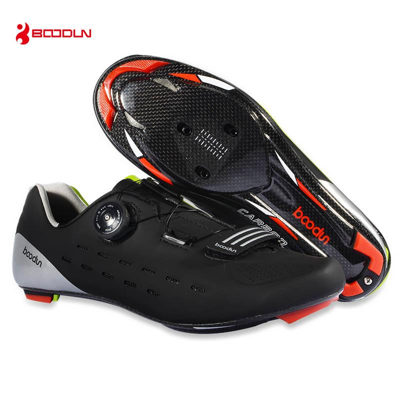 5facaa2ddae New Boodun Professional Road Carbon Cycling Shoes Road Bicyle Shoes ...