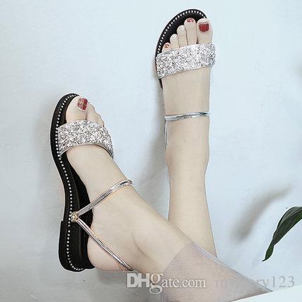 Sandals 2018 New Summer Women Flip Flops Slippers Two Wear Sandals ... 03638486f5367