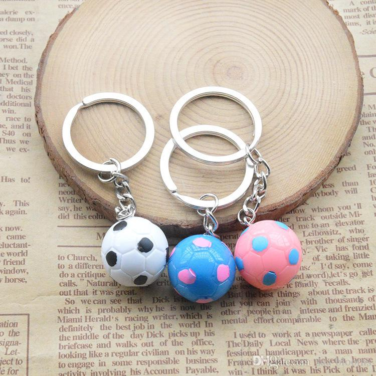 2018 Newest Simulation Small Football Keychain Fan Souvenir Gift Key Rings Creative Gift Keyfob Wholesale Random Color Send G733Q