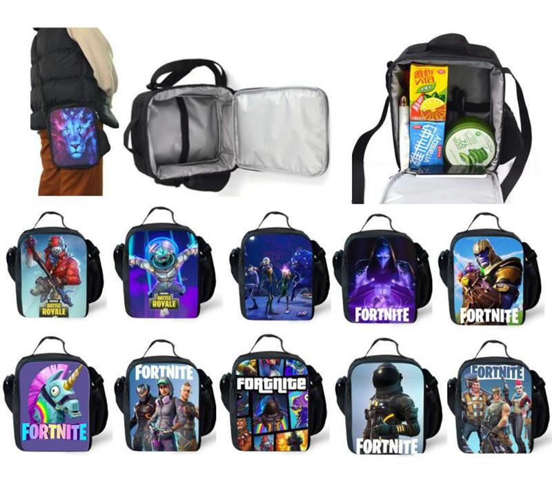 kids fortnite lunch box bag teenager cartoon school outdoor picnic tote bags students shoulder bag unisex thermal lunch boxes storage bags nz 2019 from - fortnite tote bag