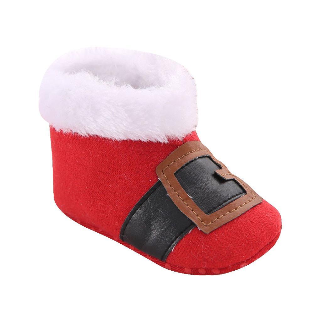 a9899be99 Compre Zapatos De Bebé Navidad Y Terciopelo Engrosamiento Bebé Niño Zapatos  Botas De Nieve Botas De Invierno Infantil A  33.4 Del Cornemiu