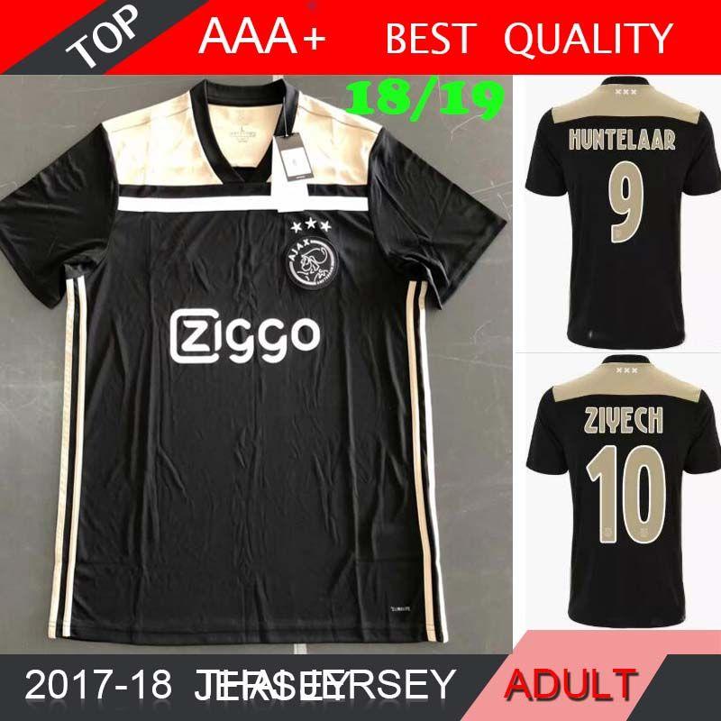 50b929bfd Ajax NEW Black Soccer Jersey 18 19 Ajax FC Soccer Jerseys Away Shirt ...