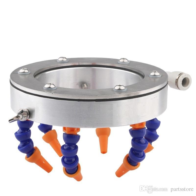 원형 노즐 수냉 범용 스프레이 링 cnc 라우터 스핀들 부품 용 냉각수 파이프 호스