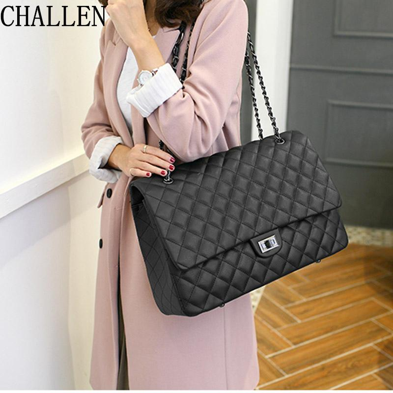 c050df3939 Travel Big Bag 2018 Luxury Handbags Women Bags Designer Lingge Chain  Shoulder Messenger Fashion Women S Handbags Bolsa Feminina Hobo Handbags  Italian ...