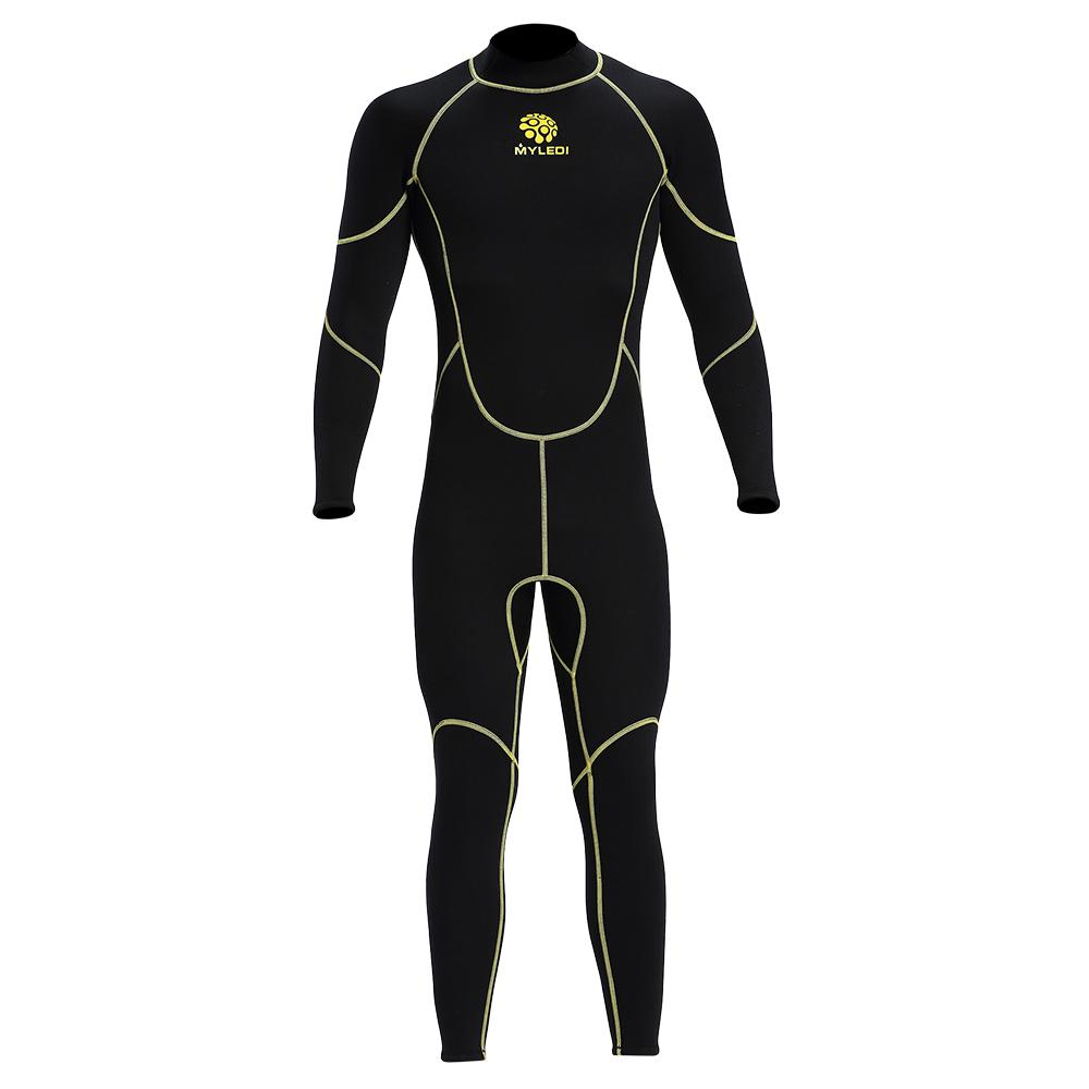 cacc7b88e8 2018 Men s Diving Suit 3mm Back Zip Full Body Wetsuit Warm UV ...