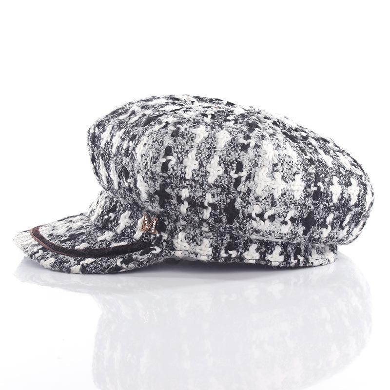 Compre Artista Boina Para Mujer M Carta Marca Sombrero Moda Negro ...