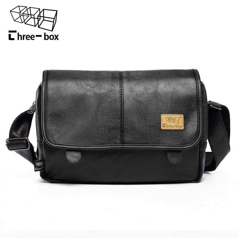 Three Box Brand Fashion PU Leather Men Messenger Bag Vintage Men S Bags  Crossbody Bags For Man Casual Shoulder Bag Bolsa Western Purses Leather  Backpack ... b96336ed989df