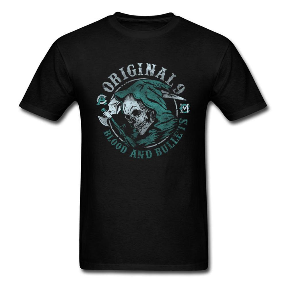 8d9eb202816fe7 Metal Band Geek T Shirt Blood VS Bullets Black 3D Skull Tshirt Men S  Hipster Print Tee Shirts Retro Style Horror Movie Tshirt Cool T Shirts  Online Funny T ...