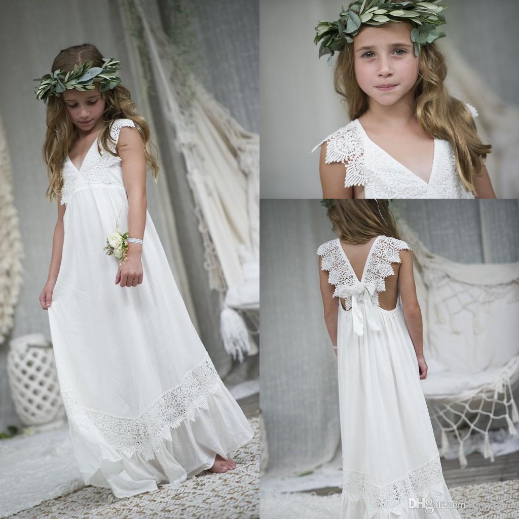 31e8c456e7 2018 Simple Flower Girls Dresses For Weddings Cap Sleeves Floor Length  Custom Made A Line First Communion Dresses For Toddler Green Flower Girl  Dresses ...