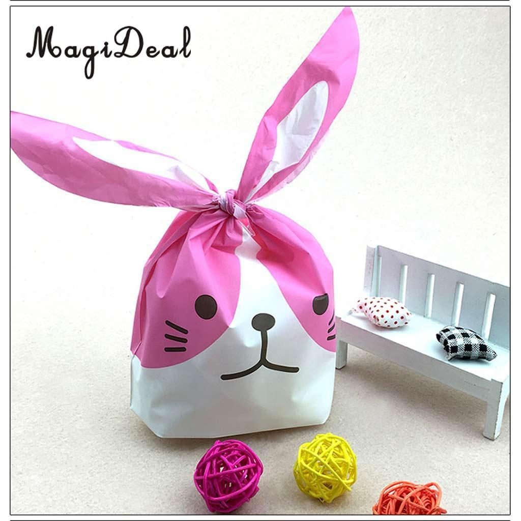 Magideal Lovely Rabbit Bunny Cat Gift Bags Bakery Cookie Treat Bags ...
