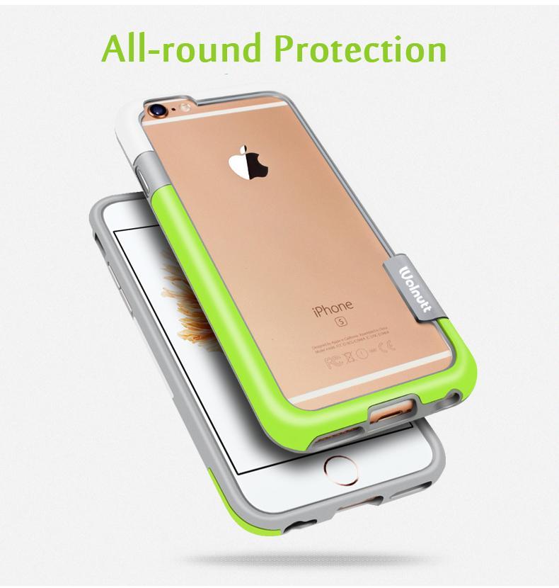 Rask 2018Esamday For IPhone 6s 4.7inch Walnutt Soft TPU Hybrid Bumper SI-64