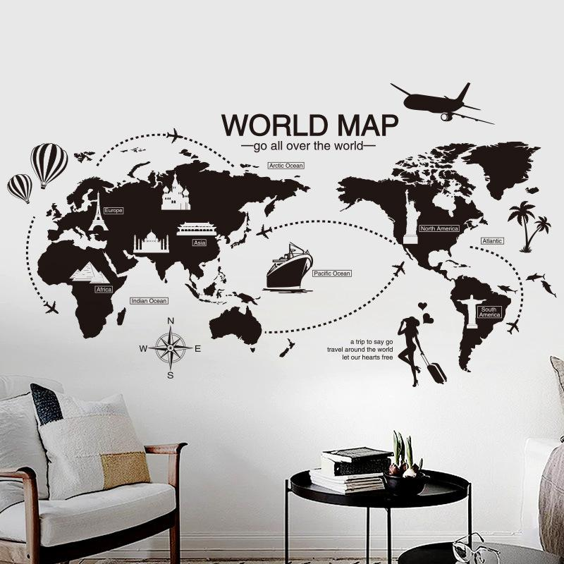 black wall sticker bedroom office artistic background removable pvc