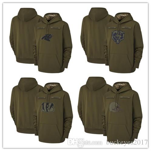 2019 Carolina Panthers Chicago Bears Cincinnati Bengals Cleveland Browns  Olive Titans Salute To Service Sideline Therma Pullover Hoodies From  Buckeyes2017 ea41ae6ad