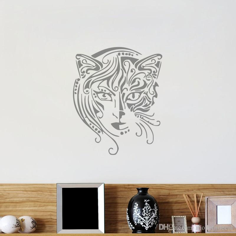 new design cat women wall decals vinyl art mural bathroom kitchen