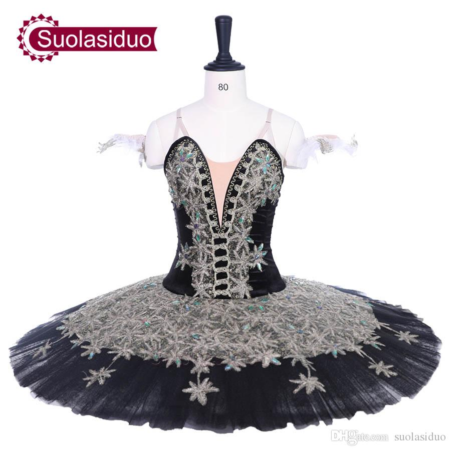 1aea8af0f 2019 Adult Black Classical Ballet Tutu Don Quixote Perfromance Stage Wear  Women Star Logo Ballet Dance Competition Costumes Girls Ballet Skirt From  ...