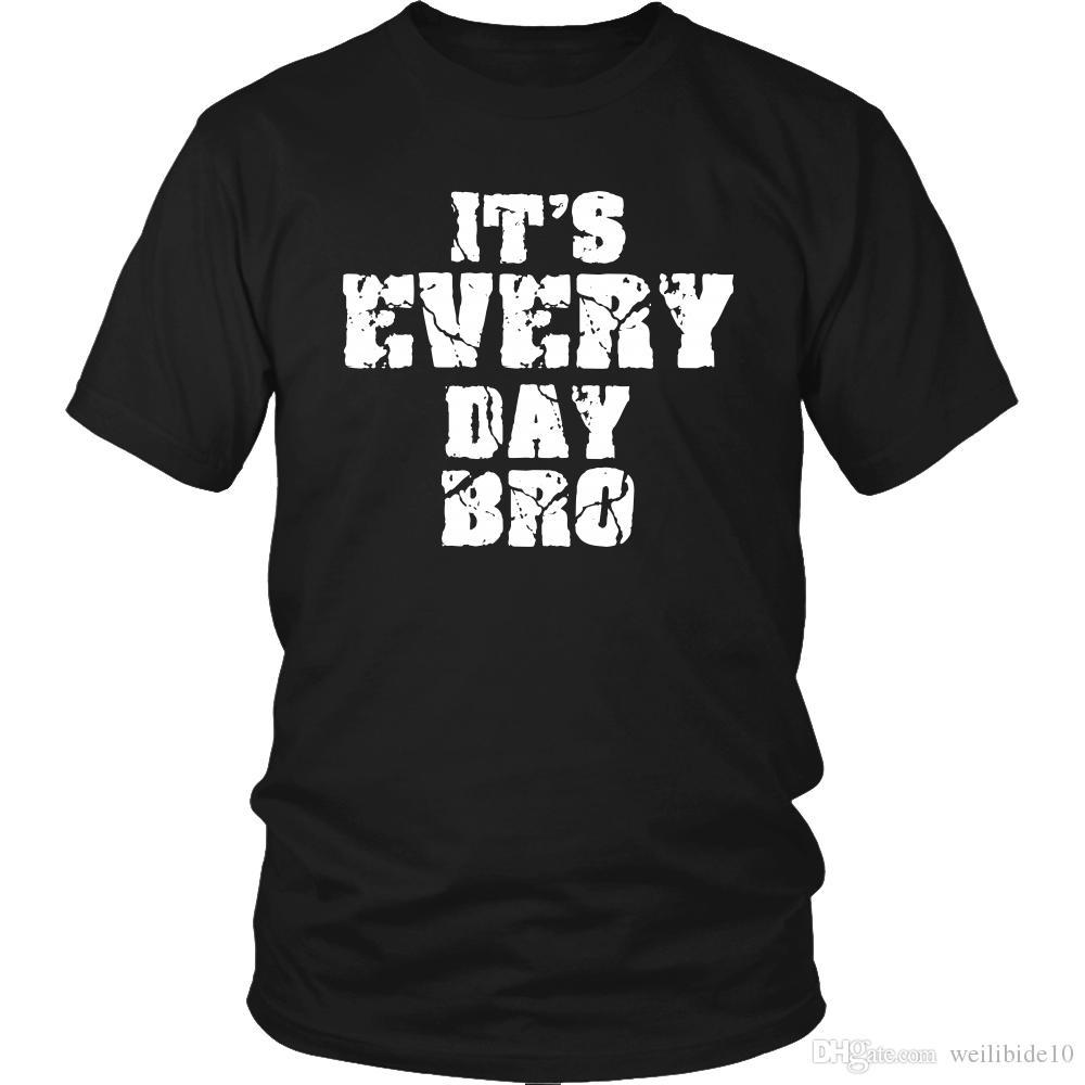 Compre Es Cada Día Bro Retro Novedad Unisex Camiseta Hombre Mujer Camisa  Divertida Camiseta De Manga Corta Camiseta Hombre Hipster Tees Verano  Camiseta A ... beca19541b0