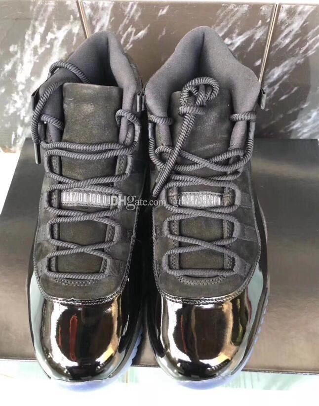 2018 New Blackout 11s prom night 11 Real carbon fiber Top Quality Gym Red Gamma blue Midnight Navy Basketball shoes Bred Concord With Box