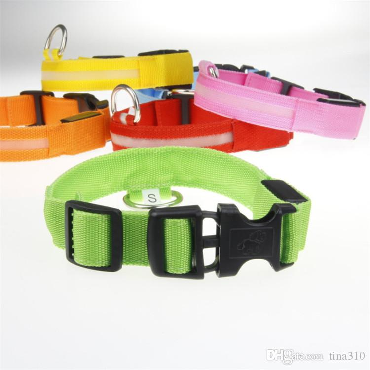 Luminous Pet Necklace Bite Proof Leather Belt With Durable Rivet Classic Style For Pet collar Training Holding Walking Dog Collars T1I393