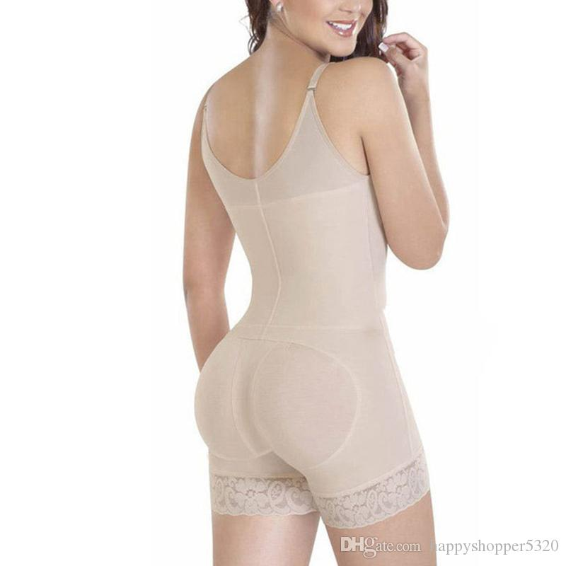 Underwear Mulheres Bodysuit Underbust Sexy Shaper Do Corpo Emagrecimento Trainer Cintura Shapewear U Zíper Push Up Butt Levantador Sem Costura