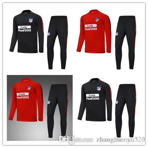 a256c1ff7 Top Quality 2017 2018 Atletico Jacket Training Suit Kits Jersey 18  GRIEZMANN F TORRES KOKE SAUL CARRASCO Madrid Jackets Tracksuit Football  Atletico Training ...