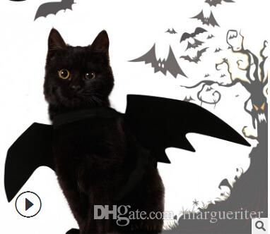 Halloween Pet Bat Wings Cat Black Bat Costume Halloween Funny Cat Cosplay Clothes Pet Cat Clothing Supplies