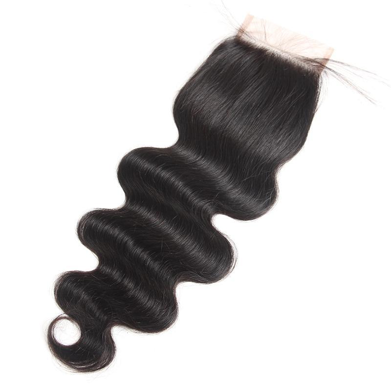 9A Malaysian peruanischen Indianer-brasilianische Jungfrau-Körper-Welle Haar Weaves 3 oder 4 Bündel mit Closure Menschliches Haar Bundle mit Spitze Schließung