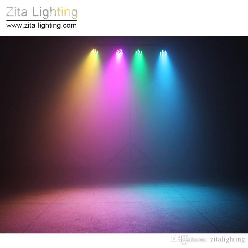 Zita, die LED-Gleichheit beleuchtet, beleuchtet Mini-flache RGBW-Gleichheit, die die 7X12W 4IN1 DMX512 SlimPar-Mischfarbe DJ Disco-Hochzeitsfest-Effekt beleuchtet