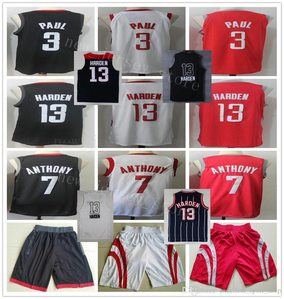 25df6625908d Wholesale College Red City Edition  13 James Harden Jersey Stitched ...
