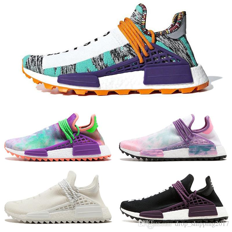 pretty nice 9c1c4 775ab Wholesale human race womens Running shoes for men NMD Pharrell Williams x  Hu Trial Solar Pack NERD Holi India athletic sports mens sneaker