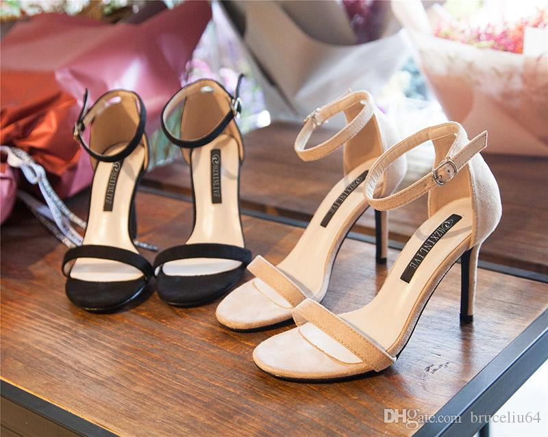 9c729bfc872 women high heels dress shoes party fashion Suede stilettos girls sexy  pointed toe shoes buckle platform pumps wedding shoes black Nude color