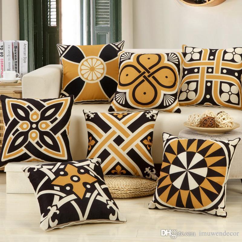 Großhandel Großhandel Geometrische Muster Kissenbezüge Dekorative ...